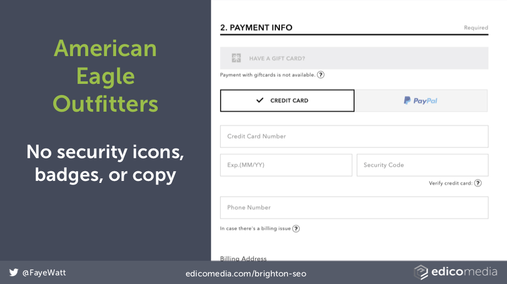 American Eagle Outfitters Credit Card Form