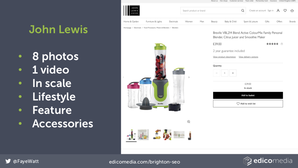 John Lewis Product Images