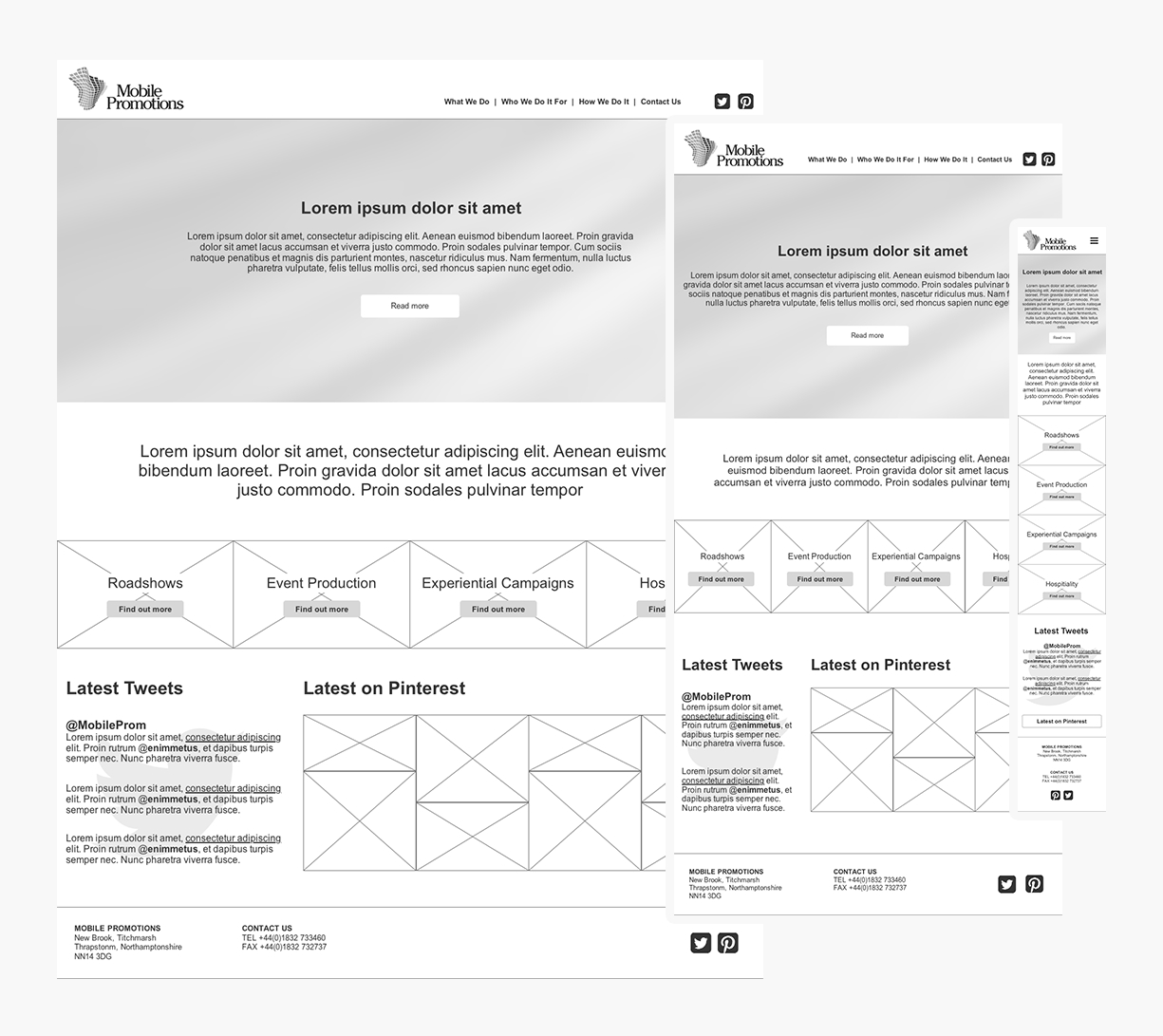 Website Prototypes