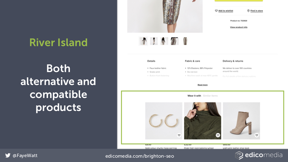 River Island Secondary Products